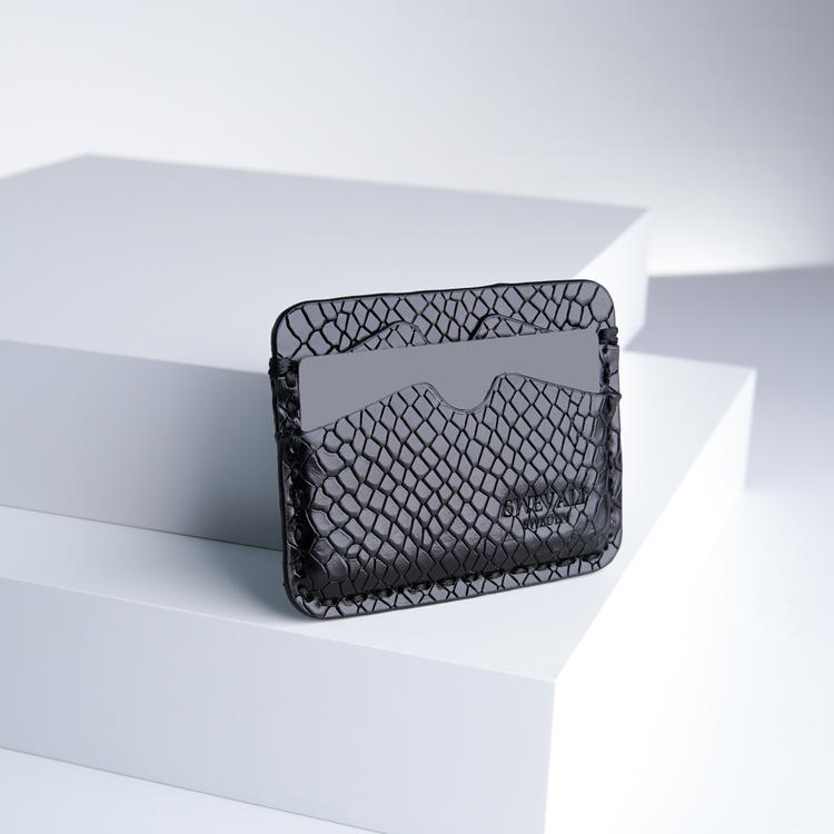 """Leather card holder """"Python Lyx Trace"""" The opulent"""