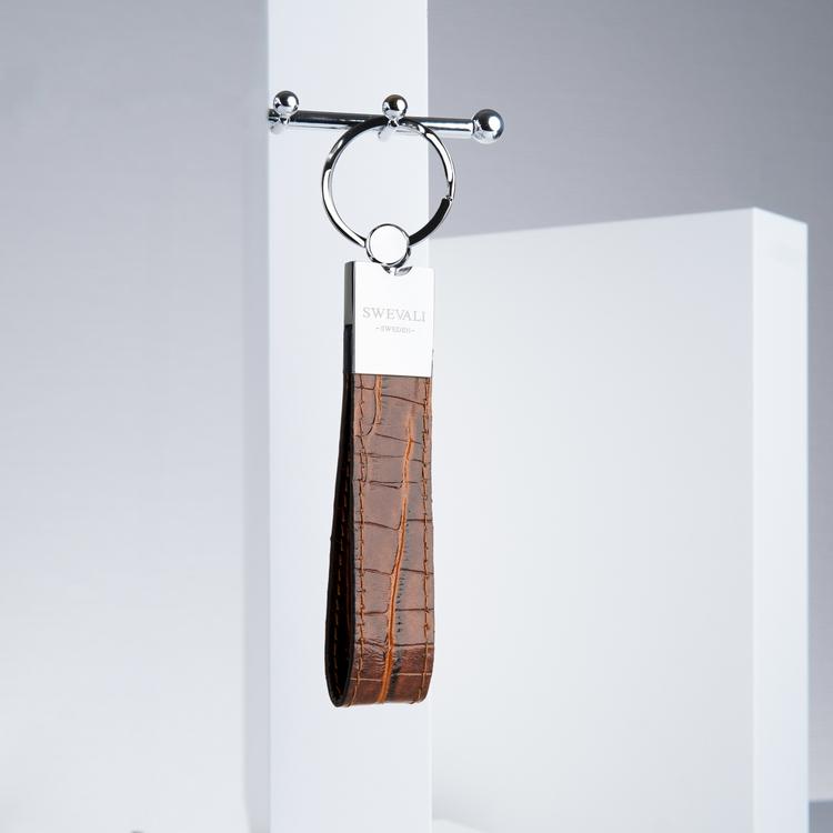 "Leather Key Holder ""Croco Sahara"" the key from swevali"