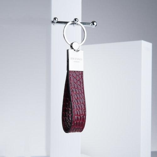 "Leather Key Holder ""Coco Carmine"" The Key - SWEVALI"