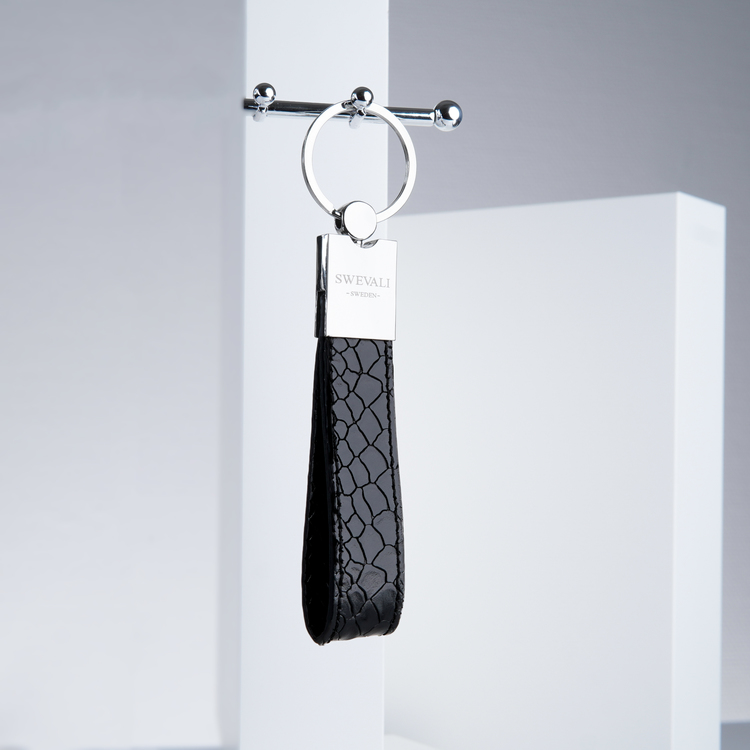 "Leather Key Holder ""Python lyx trace"" the key from swevali"