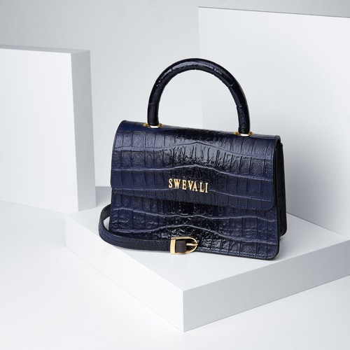 """Lady Leather Bags Set """"Coco Blue Night"""" - SWEVALI"""