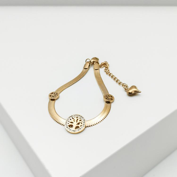 Tree of life Triology Armband bild 2 är en Elegant, tidlös, och modern accessoar. Otroligt Vacker design av SWEVALI för alla tillfälle. Smycken är av hög kvalité Stainless Steel. Passar perfekt för da