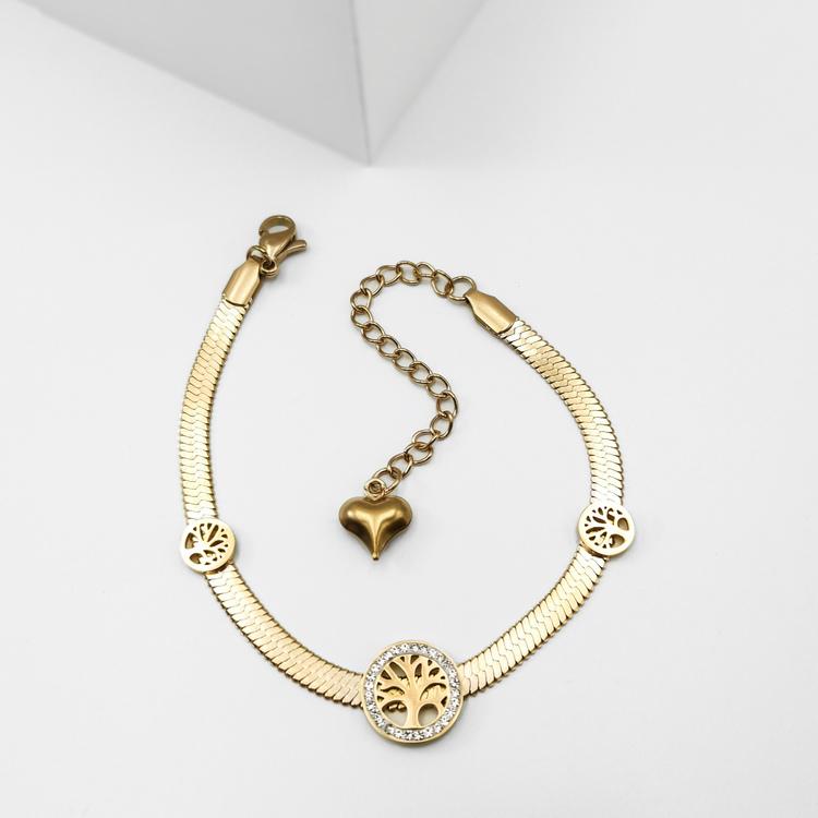 Tree of life Triology Armband bild 1 är en Elegant, tidlös, och modern accessoar. Otroligt Vacker design av SWEVALI för alla tillfälle. Smycken är av hög kvalité Stainless Steel. Passar perfekt för da