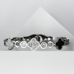 Clover Elegance Snappy Silver Edition Armband - SWEVALI