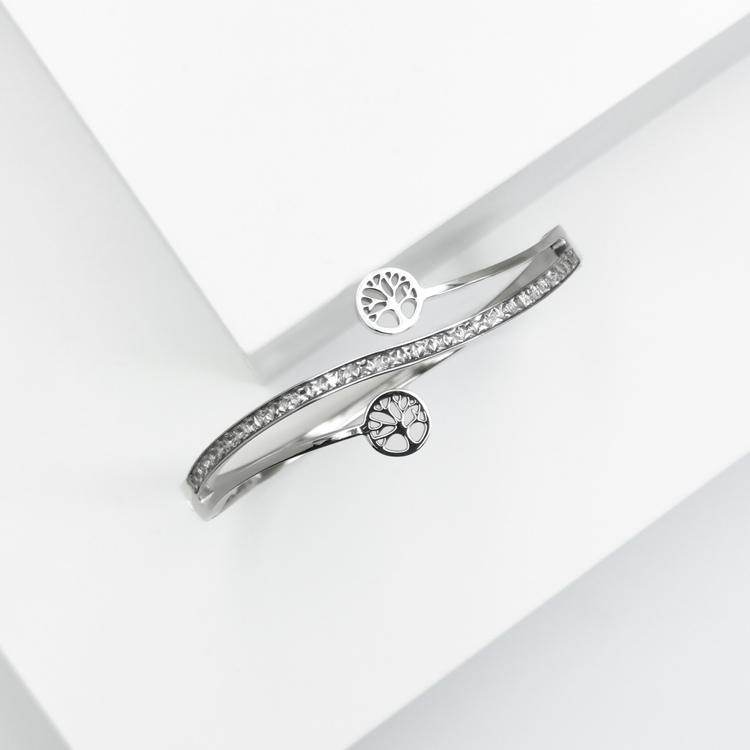 Tree of life harmony S Armband bild 2 är en Elegant, tidlös, och modern accessoar. Otroligt Vacker design av SWEVALI för alla tillfälle. Smycken är av hög kvalité Stainless Steel. Passar perfekt för d