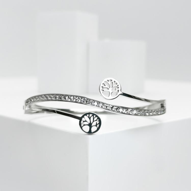 Tree of life harmony S Armband bild 4 är en Elegant, tidlös, och modern accessoar. Otroligt Vacker design av SWEVALI för alla tillfälle. Smycken är av hög kvalité Stainless Steel. Passar perfekt för d
