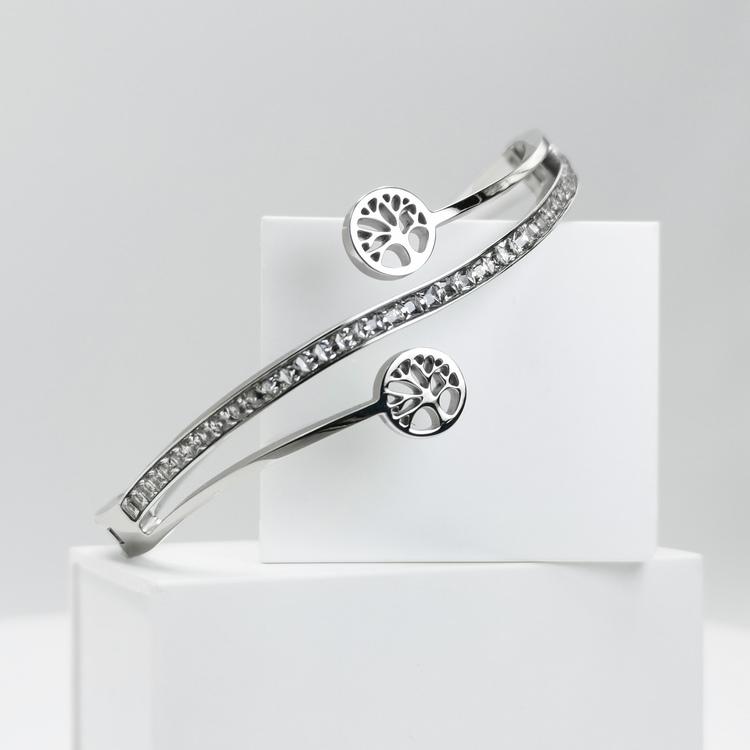 Tree of life harmony S Armband bild 3 är en Elegant, tidlös, och modern accessoar. Otroligt Vacker design av SWEVALI för alla tillfälle. Smycken är av hög kvalité Stainless Steel. Passar perfekt för d
