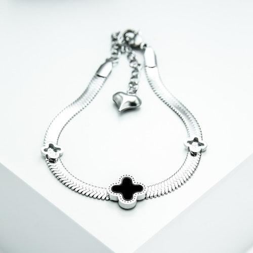 Clover Lucky Line Silver Edition Armband Chain - SWEVALI