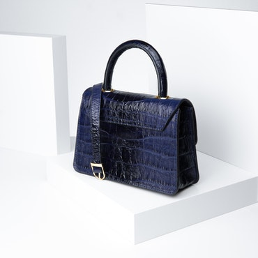 """Leather Sling Bag """"Coco Blue Night"""" The Classy - SWEVALI"""