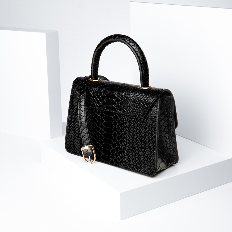 """Leather sling bag """"Python lyx trace"""" The classy"""