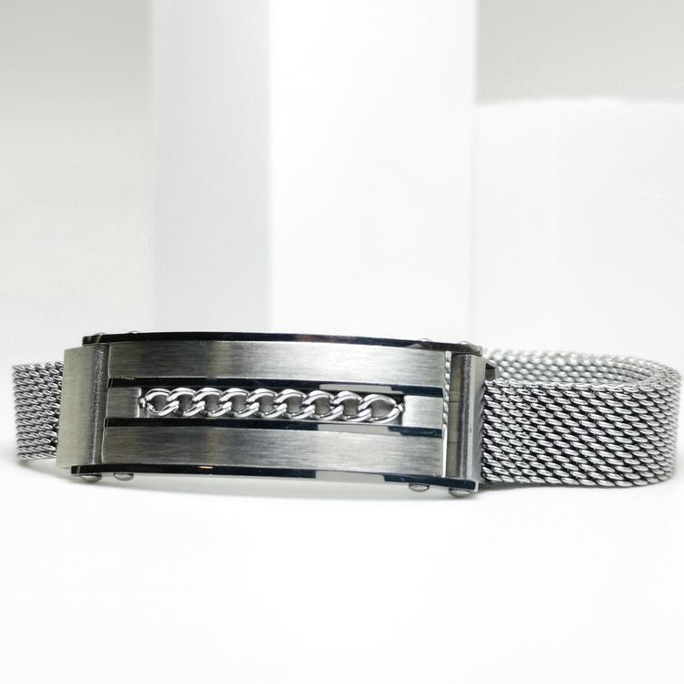 Confident Grey Metal Armband bild 1 är ett herr armband med vackra detaljer och hög kvalité