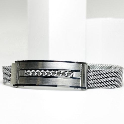 Confident Grey Metal Armband - SWEVALI
