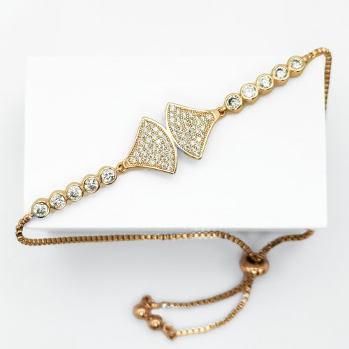 Axs diamond G Armband with Chain