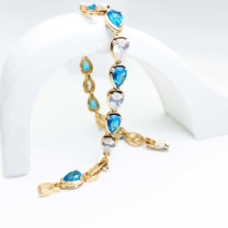 Crystal River Ombre Blue Gold Edition Armband - SWEVALI
