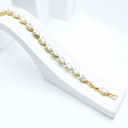 Crystal Clear River Gold Edition Armband - SWEVALI