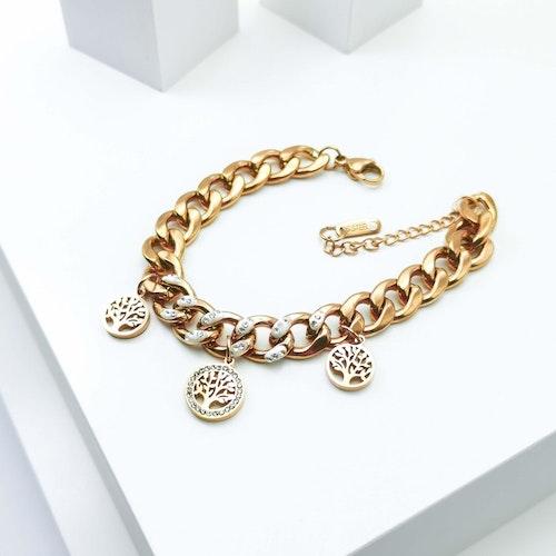 Tree of life Confident Rose Gold Edition Armband - SWEVALI