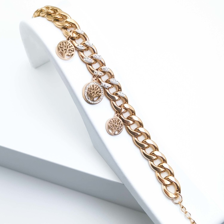 Tree of life confident Armband bild 2 är en Elegant, tidlös, och modern accessoar. Otroligt Vacker design av SWEVALI för alla tillfälle. Smycken är av hög kvalité Stainless Steel. Passar perfekt för d