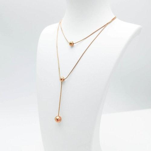 Prestige Beauty Orbits Rose Gold Halsband - SWEVALI