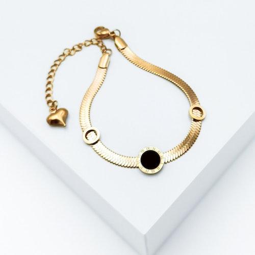 Era Elegance in love Rose Gold Armband with Chain - SWEVALI