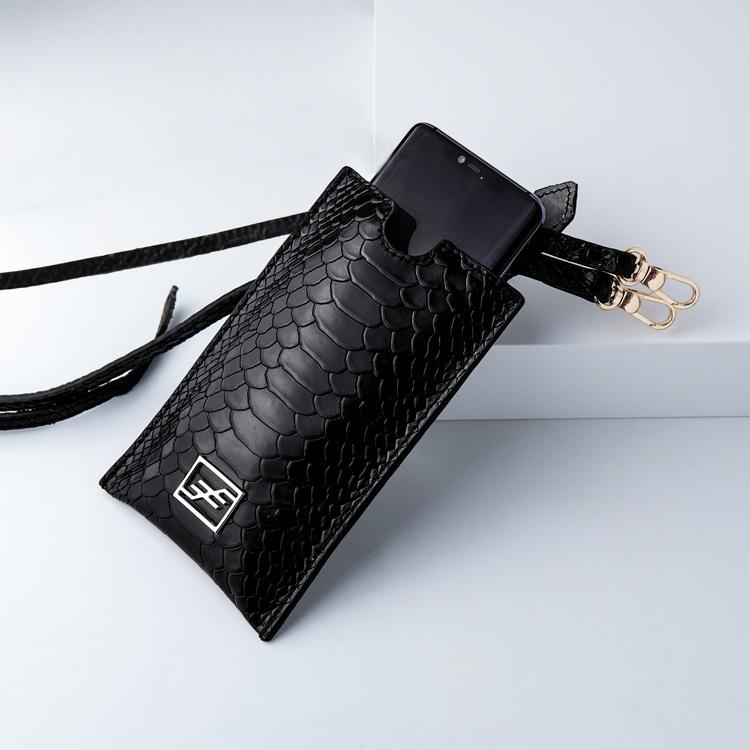 Bild 1 Genuine Leather Phone pouch mobilfodral och lyxig phone case python pattern