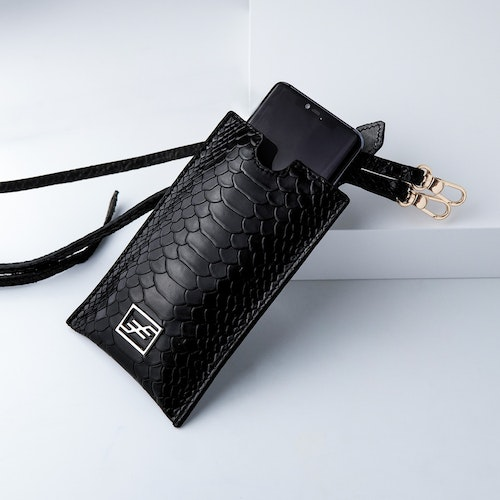 """Leather Sling Phone Pouch """"Sneaky Lyx Trace"""" The Daily - SWEVALI"""