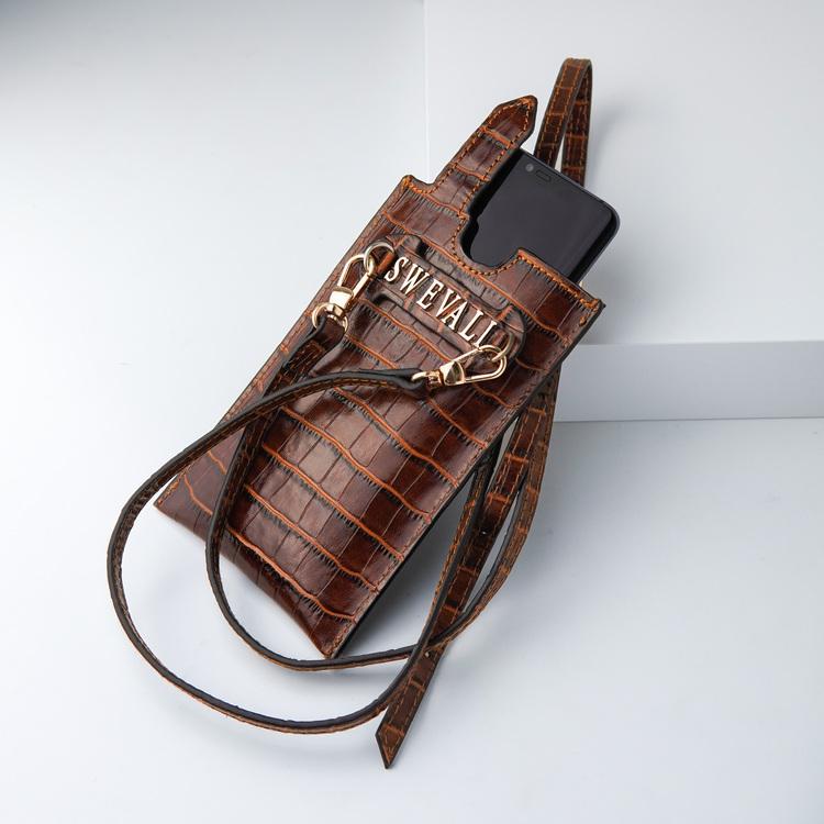 Bild 2 Genuine Leather Phone pouch mobilfodral och lyxig phone case Croco Sahara  pattern