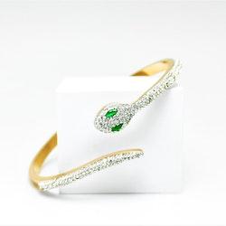Green Eyed Python Rose Gold Edition Armband - SWEVALI