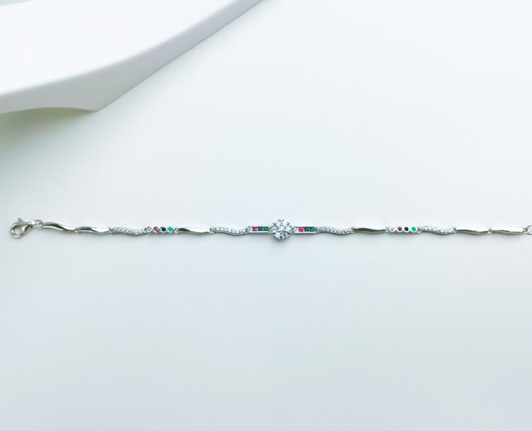 Aroma spring Silver Armband 925 äkta silver, modern silver armband 4