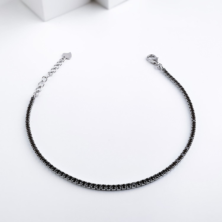 Diamond Black Legacy Silver Armband 925 äkta silver, modern silver armband 3