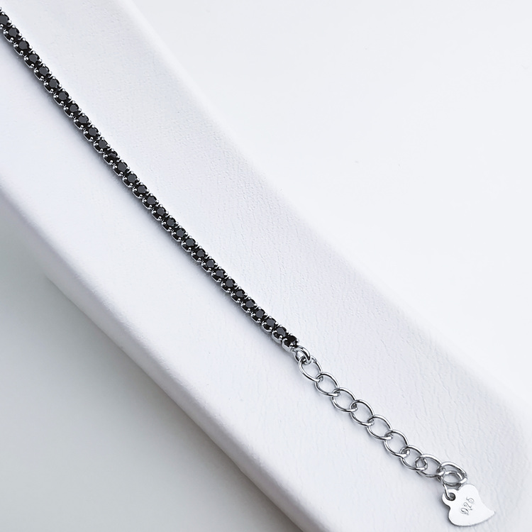 Diamond Black Legacy Silver Armband 925 äkta silver, modern silver armband 2