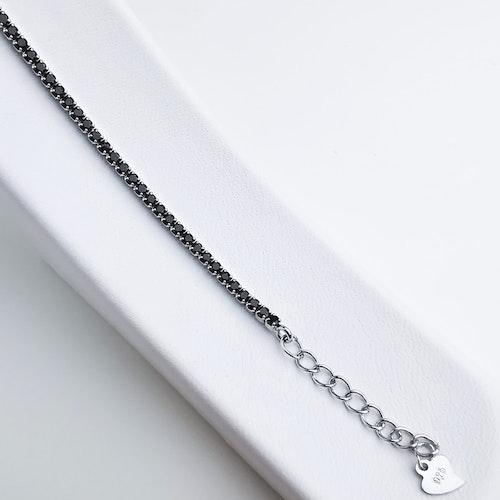 Diamond Black Legacy Silver Armband 925 - SWEVALI