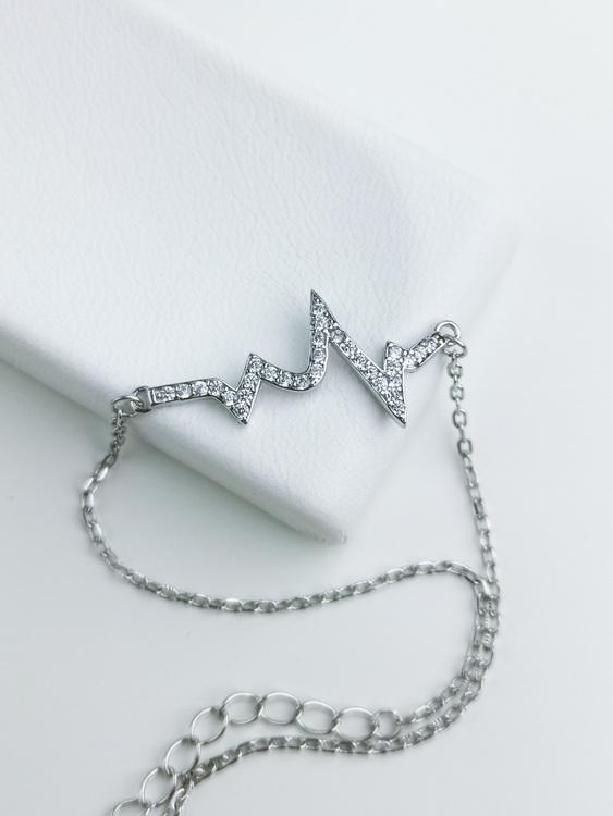 Evig Puls Silver Armband 925 äkta silver, modern silver armband 3