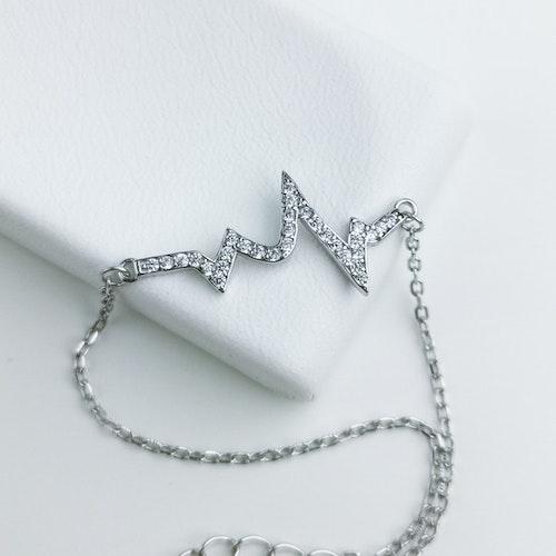 Evig Puls Silver Diamond Armband 925 - SWEVALI