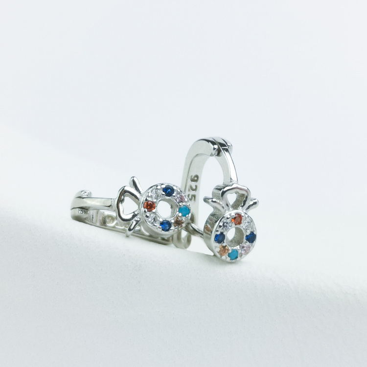 3 - Amulette  Silver Örhänge 925 Modern and trendy earings and women jewelry and accessories