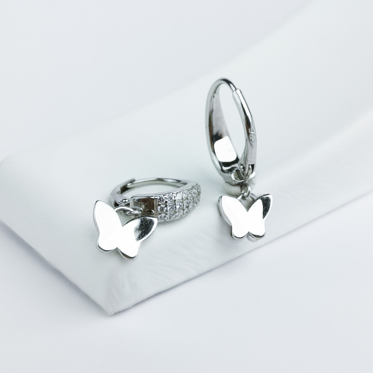 1 - Butterfly Babe Silver Örhänge 925 Modern and trendy earings and women jewelry and accessories