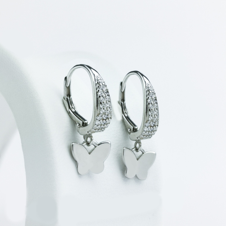 2 - Butterfly Babe Silver Örhänge 925 Modern and trendy earings and women jewelry and accessories