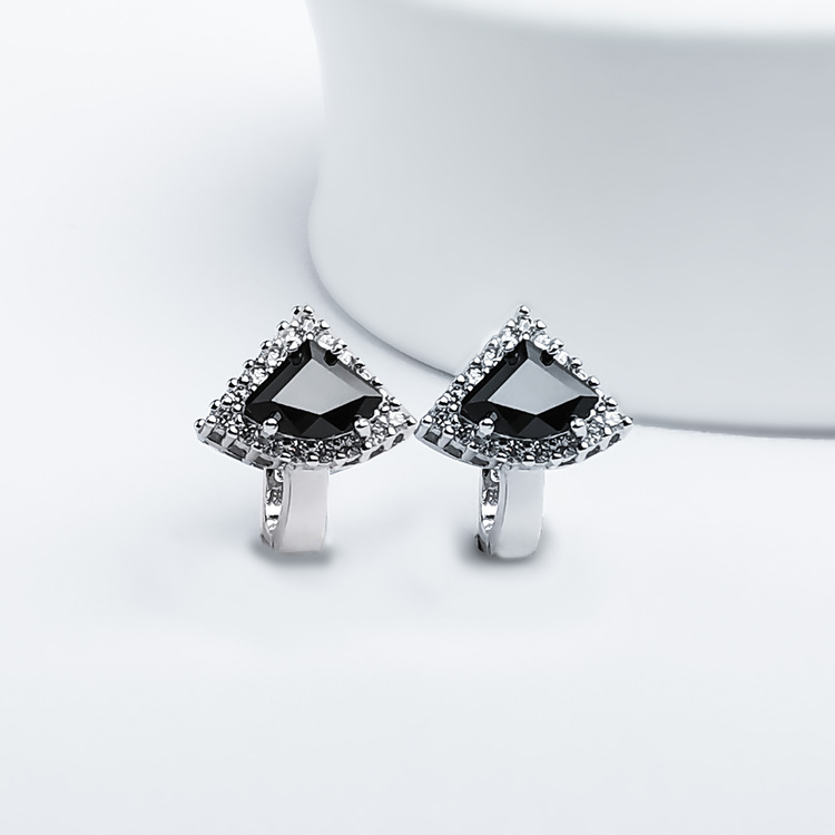3 - Deep Orchid Stone Silver Örhänge 925 Modern and trendy earings and women jewelry and accessories