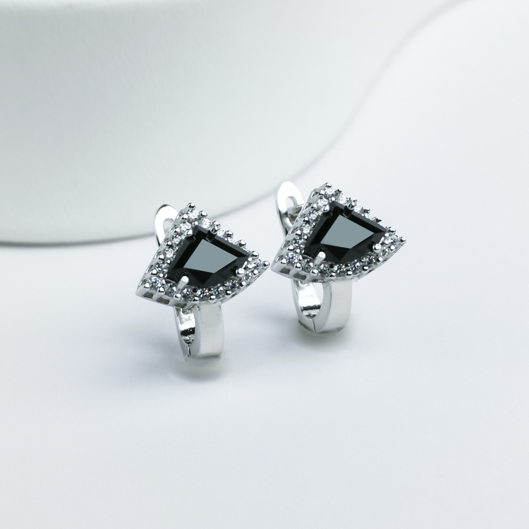 1 - Deep Orchid Stone Silver Örhänge 925 Modern and trendy earings and women jewelry and accessories