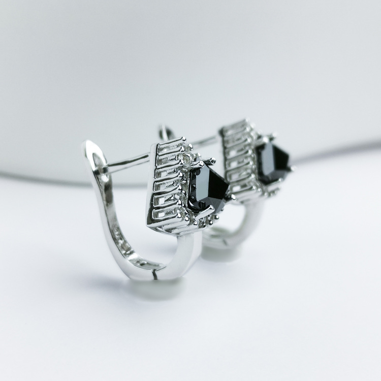 2 - Deep Orchid Stone Silver Örhänge 925 Modern and trendy earings and women jewelry and accessories