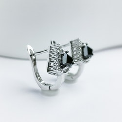 Deep Orchid Stone Silver Örhänge 925 - SWEVALI