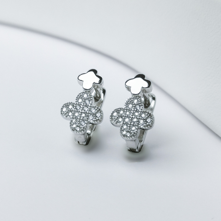 3 - Clover babe Silver Örhänge 925 Modern and trendy earings and women jewelry and accessories