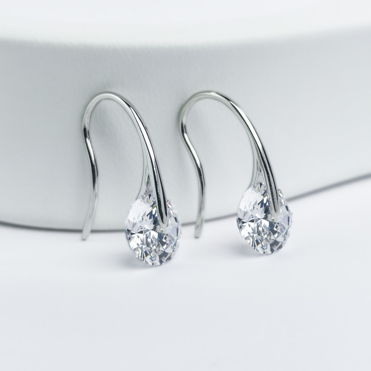 1 - Heel Wheel Crystal Silver Örhänge 925 Modern and trendy earings and women jewelry and accessories