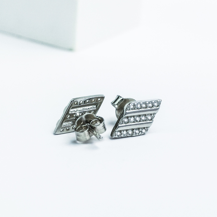 3 - Losange Secret Silver Örhänge 925 Modern and trendy earings and women jewelry and accessories