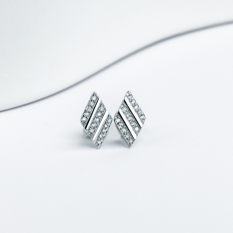 1 - Losange Secret Silver Örhänge 925 Modern and trendy earings and women jewelry and accessories