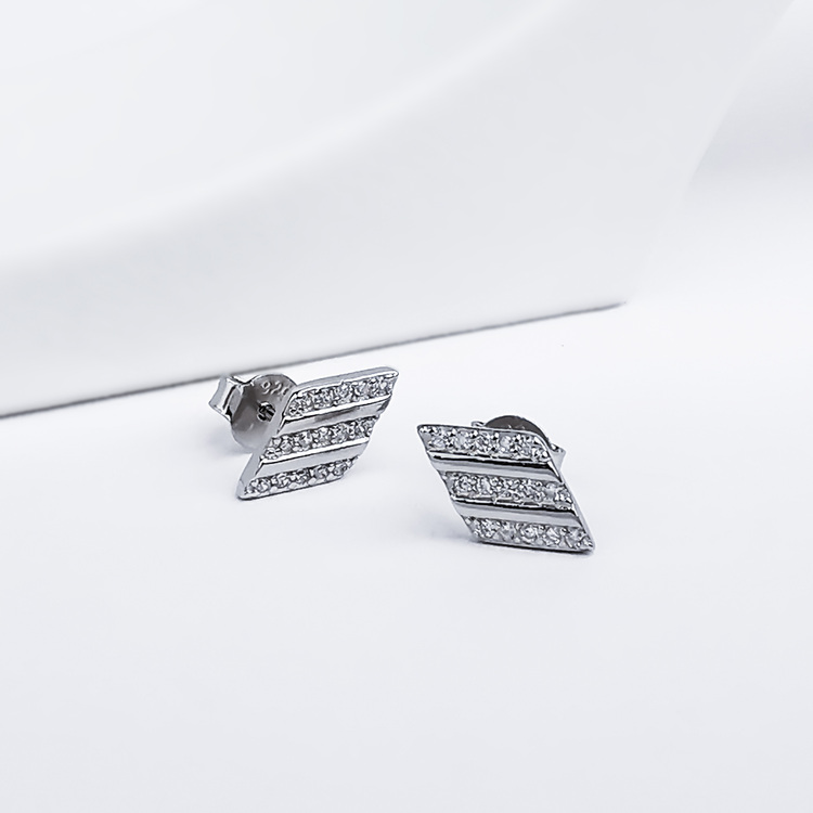 2 - Losange Secret Silver Örhänge 925 Modern and trendy earings and women jewelry and accessories