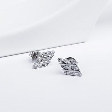 Losange Secret Silver Örhänge 925