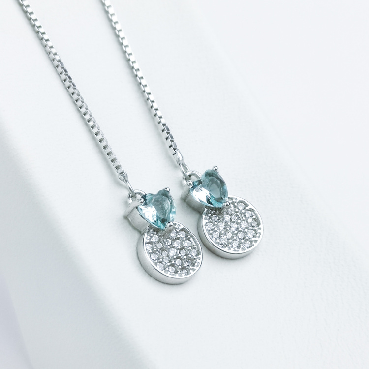 1 - Pendel Heart Silver Örhänge 925 Modern and trendy earings and women jewelry and accessories