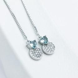 Pendel Heart Silver Örhänge 925 - SWEVALI