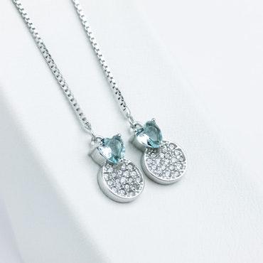 Pendel Heart Silver Örhänge 925