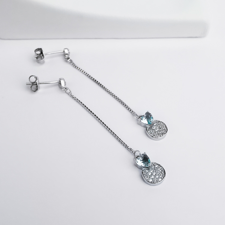 3 - Pendel Heart Silver Örhänge 925 Modern and trendy earings and women jewelry and accessories